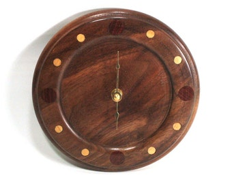 Walnut Wall Clock with Padauk and Maple