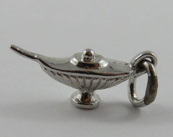 Magic Lamp Sterling Silver Vintage Charm For Bracelet