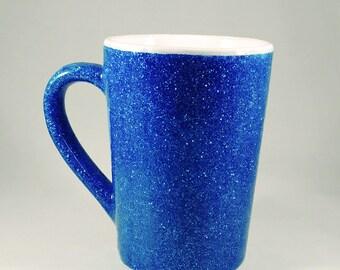 Aqua Glitter Coffee Mug - 14 oz.