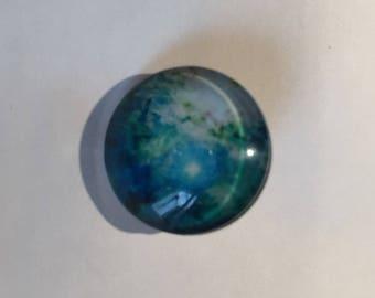 Snap 1.8 cm space Galaxy blue