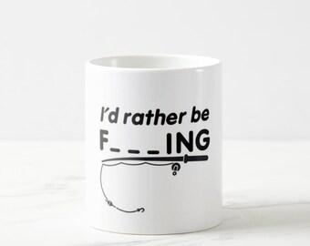 I'd Rather Be Fishing mug, Funny Fishing Mug, Rather Be Mug, Fishing Lures, Fishing Mug,Fishermen Mug,Dads Fishing mug,i'd rather be fishing