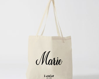 W15Y Tote bag personalized name tote bag gift, handbag, diaper bag, shopping bag, bag courses, tote bag, beach bag, bag name