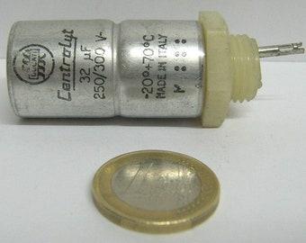 Electrolytic vintage capacitor 32uF 300V