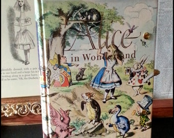 Book Clutch Alice In Wonderland by Lewis Carroll Illustrated Cover Vintage Book Purse Made to Order