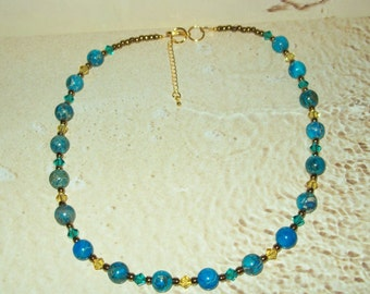 NK-19 - Dyed Australian Jasper Gemstone Necklace