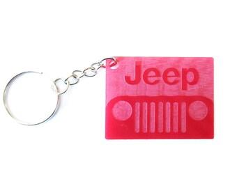 Jeep keychain, Jeep key chain, Jeep, acrylic keychain, laser cut, Father's day gift