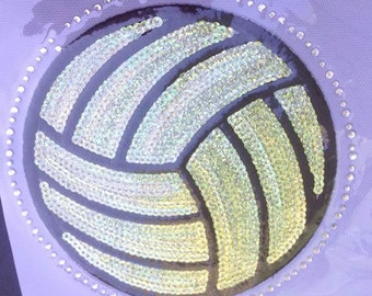 CLOSEOUT SALE Water Polo Sequins and Rhinestone Transfer Applique ONLY