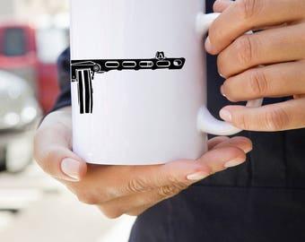 KillerBeeMoto:  U.S. Made Coffee Mug of Soviet PPSh-41 Machine Gun