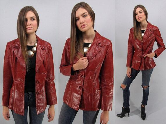 Vintage 70's Boho Leather Jacket Cw0N7