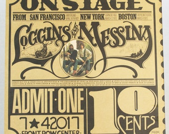 Loggins and Messina - On Stage San Francisco 1972, New York 1973, Boston 1973 Album Columbia Records 1974 Original Vintage Vinyl Record LP