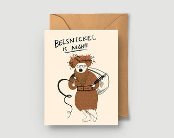 Belsnickel Is Nigh! Christmas Card - Holiday Card - The Office - Dwight Schrute - Single or Boxed Cards Set