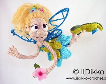 Amigurumi Crochet Pattern - Fiona the Fairy - English Version
