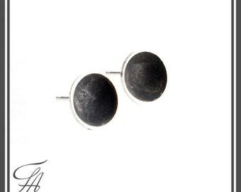 Minimalist jewelry, Modern Earrings, Round Disc Studs, Post earrings, Sterling Silver, Handmade Earrings, Stud Earrings, Gift For Her