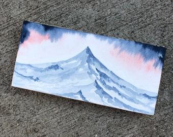 Original Mountain Watercolor Painting