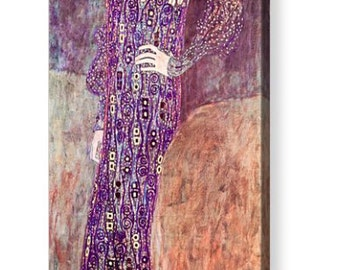 """Gustav Klimt """"Portrait of Emilie Floge 1902"""" Repro Canvas Art 8"""" x 20"""", 12"""" x 30"""""""