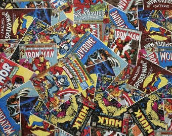 Marvel Classic Comic Covers Blanket / (Captain America, Iron Man, Hulk, Thor, Spider Man, Wolverine)