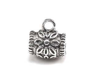 sterling silver bracelet bail - bali sterling silver necklace bail - 925 bali pendant bail - precious metal jewellery bail - silve bail-5pcs