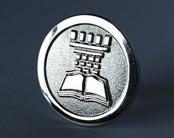 JW.org pin for Jehovah's Witnesses silver watchtower