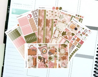 """Autumn/Fashion """"Fall Favourites""""  Themed Planner Stickers for Erin Condren, Kikki K, Filofax, Happy Planner, Websters Pages"""