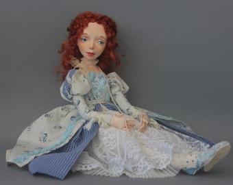 Art doll, handmade doll, Moving doll, Author's doll maid of honor Fiona