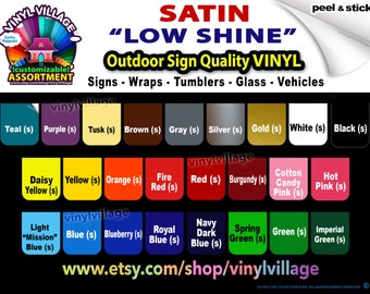 """3 rolls 12"""" low shine Adhesive Backed Vinyl for all Craft and Sign Cutters  YOU PICK COLORS in any combination,"""