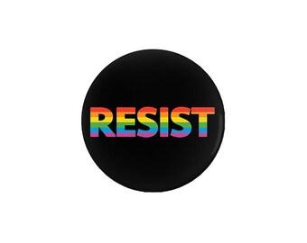 LGBTQ RESIST Pinback Button