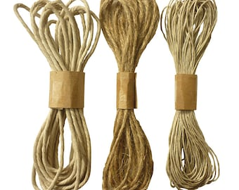 Set of 3 jute - natural jute Twine 14.50 strings m