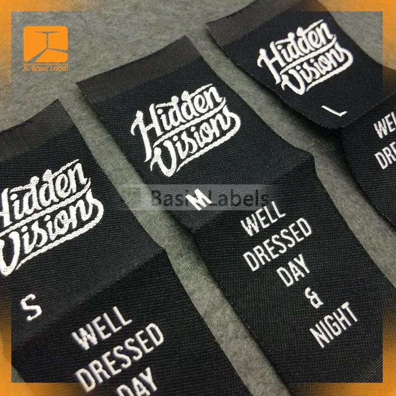 300 woven labels center fold custom clothing labels woven for Create custom clothing tags