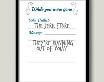 Jerk Store Printable Wall Art, Instant Download
