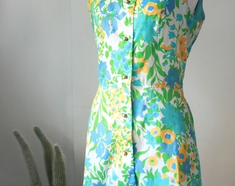 60s Spring Floral Lord & Taylor Dress S/M