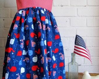 Red White Blue Dress Etsy