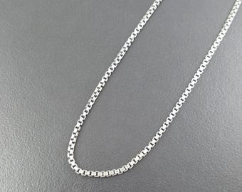 "Box Chain, sterling silver, silver chain, sterling chain, interchangeable chain, 18"" chain, 20"" chain, thick sterling silver chain, silver"
