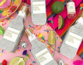 Tequila Piñata Party Favors, Mini Piñatas, Groomsmen Gift, Wedding Favors, Bachelorette Proposal, Mexican Wedding, Cinco de Mayo, 1 Piñata