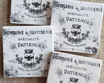 French Country- Shabby Chic, Cottage, Paris, Parisian, Decor, Gift, Cottage Coasters, Shabby Chic Coasters, French Country Coasters