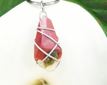 Scarlet Inferno - Red Wrapped Cannabis Gemstone - Weed Resin Keychain - MMJ - Medical Grade - Hemp Product