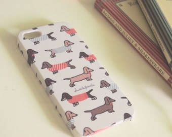 Dachshund Case for iPhone X, 8/ 8 +, 7/7+, 6, 6+, 5/5s/ SE, 4/4s & Samsung