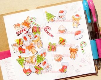 Christmas Planner Stickers. Christmas Sticker. Winter Stickers. Erin Condren Sticker. Holiday Planner Sticker. Filofax. Scrapbook Decoration
