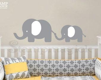 Cute Baby Elephant Wall Decal - Nursery Animals Vinyl Wall Art Decor for Baby's Room - K238