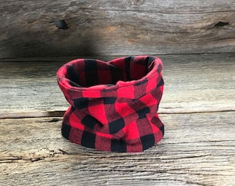 Baby Neck Warmer, ***Lumberjack Plaid***, Plaid Neck Warmer, Baby Neckwarmer, Baby Scarf