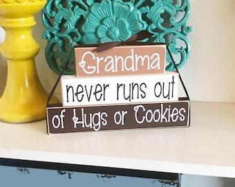 Grandma Never Runs Out - Grandma Gift - Grandma Sign - Gift for Grandma - Nana Sign - Nana Gift - Mother's Day Gift