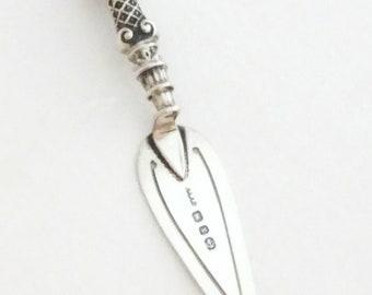 Viktorianischen Silber Kelle Lesezeichen 1897