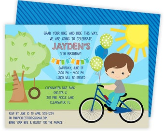Bicycle Invitation, Bicycle Party, Bicycle Birthday, Bicycle Invitations, Bicycle Invite, Bike Invitation, Bike Party, Bike Birthday | 301