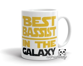 Bass Player Mug - Best Bassist In The Galaxy