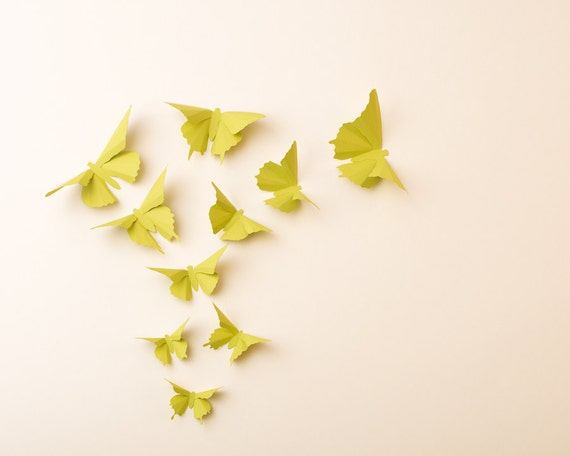 3D Wall Butterflies: Butterfly Silhouettes for Girls Room