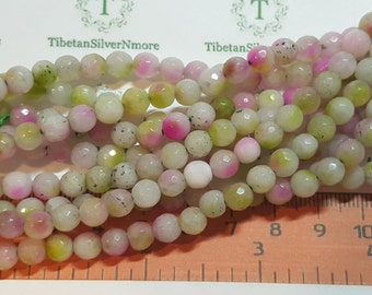 1 strand approx. 64 beads of 6mm Faceted Round Multicolor Agate