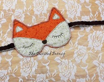 New Fall Embroidery Design Designs Fox Sleep Mask Machine Embroidery Designs Instant Download Christmas Embroidery Design 5x7 Hoop