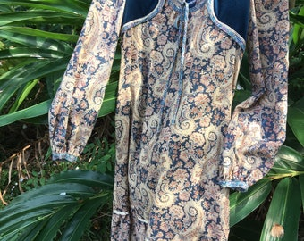 The L'America frock   Vintage late Sixties frock, wonderfully bohemian and comfy