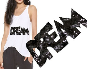 DREAM Iron On Patch Applique for DIY fashion crafts