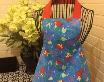 Girls Little Mermaid apron