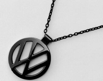 VW Volkswagen BLACK Necklace Pendant  Camper Beetle T4 Beastie boys